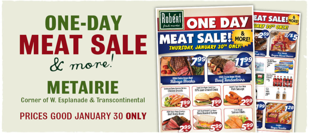 One Day Meat Sale - Baton Rouge